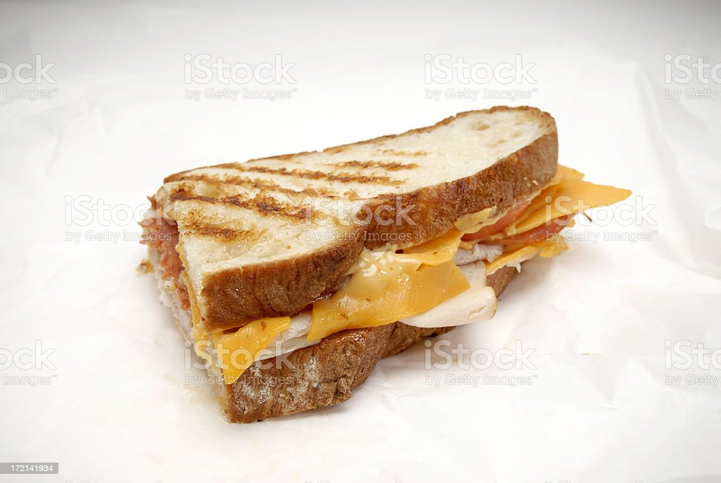 Close up view of a Deli sandwich royalty-free stock photo
