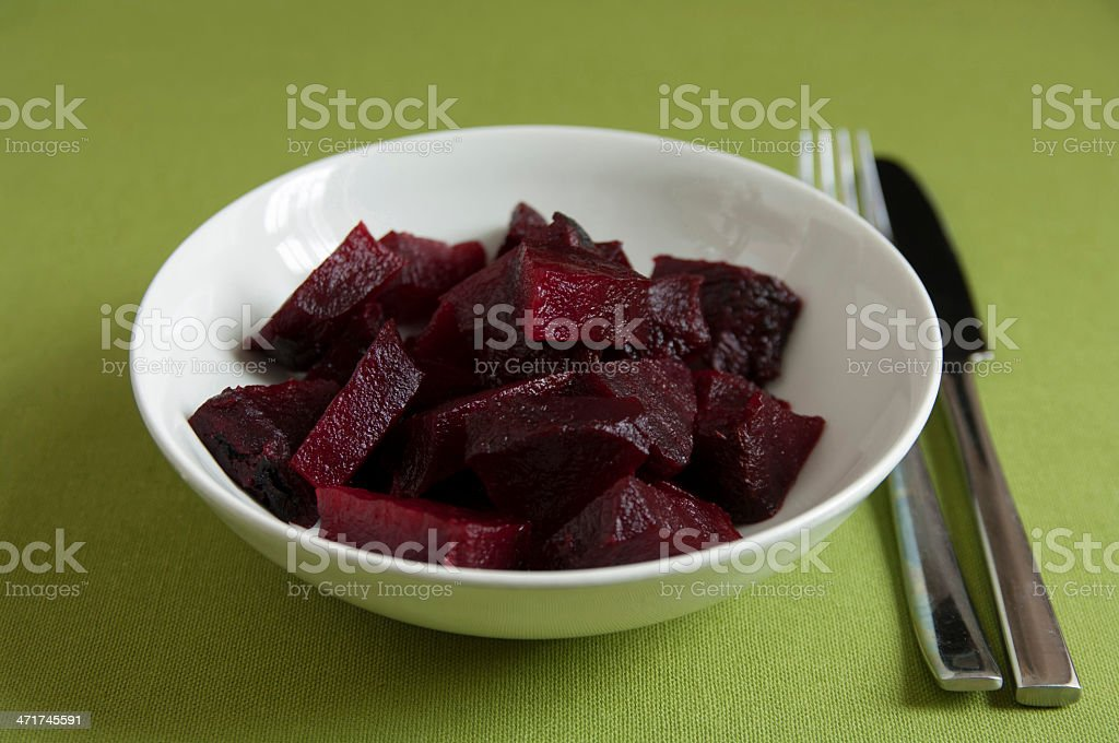 Close up view of Italian organic cooked Beetroot royalty-free stock photo