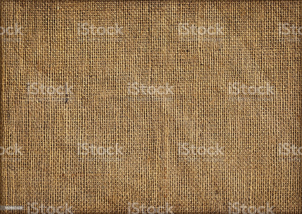 Close up view of jute canvas emphasizing the coarse grain stock photo