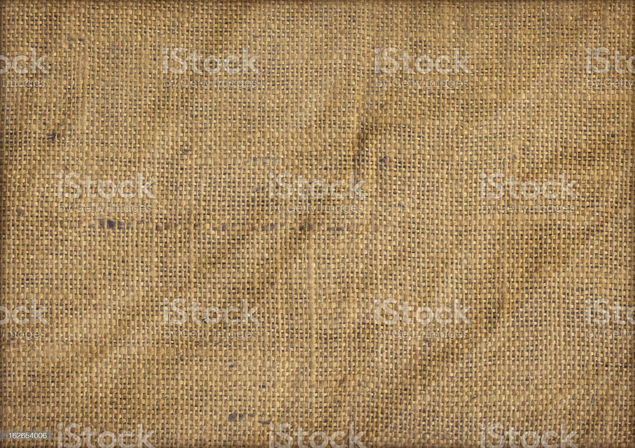 Close Up View of Jute Canvas Emphasizing The Coarse Grain royalty-free stock photo