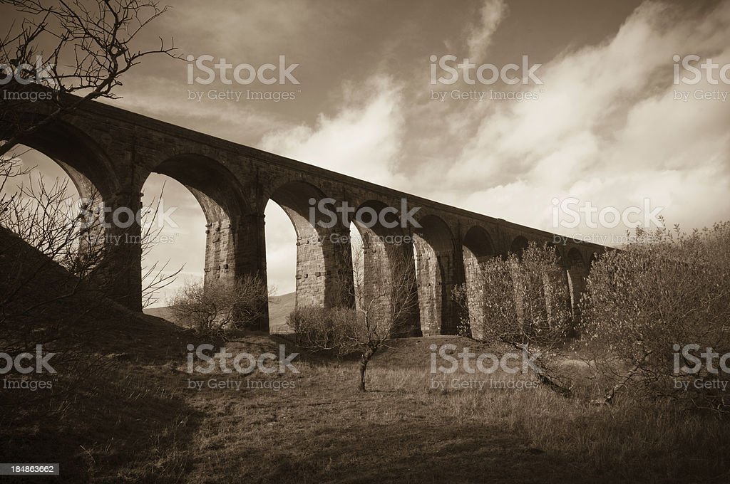 Close up view of Ribblehead Viaduct stock photo
