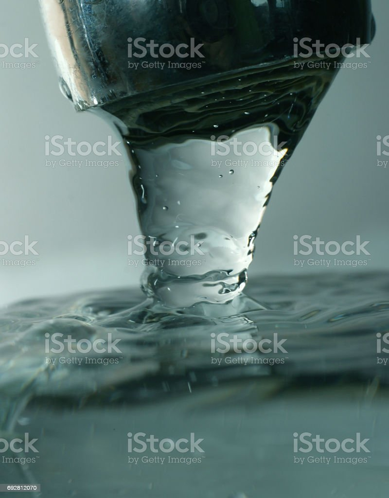 Close up view of the blue water bubble stock photo