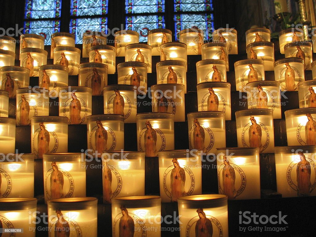 Close up view of the candles royalty-free stock photo