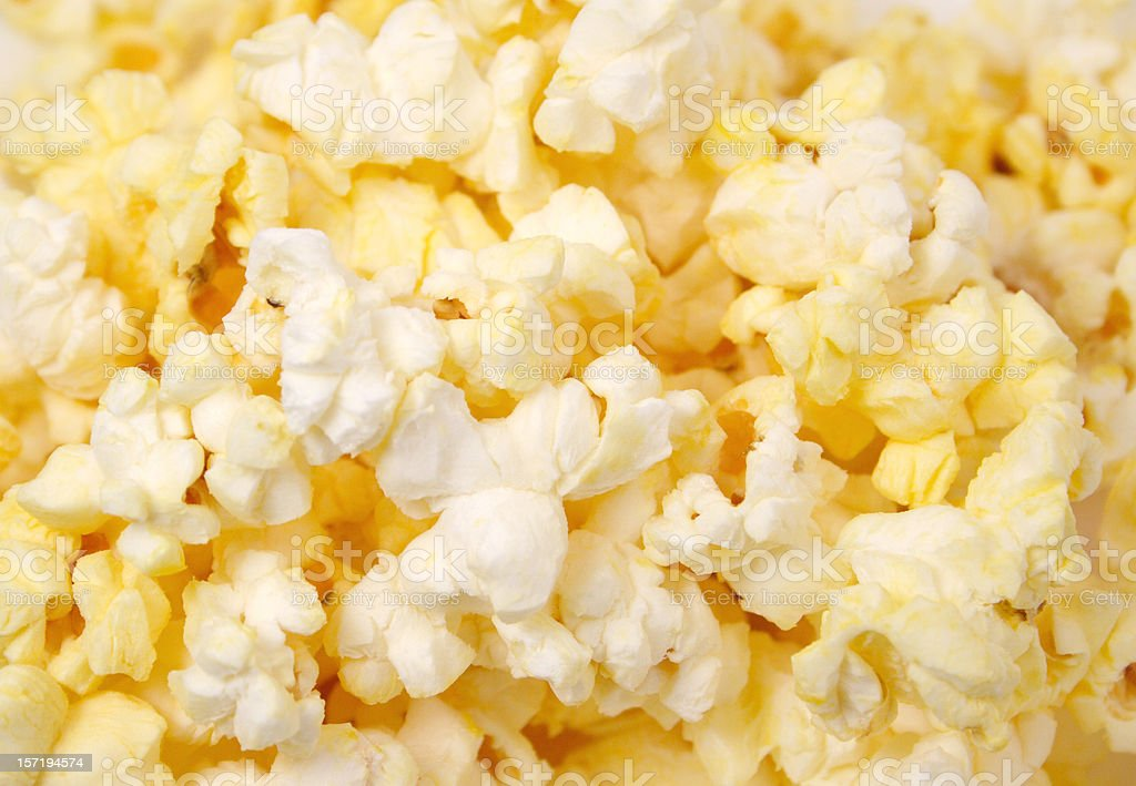 Close up view of yellow popcorn royalty-free stock photo