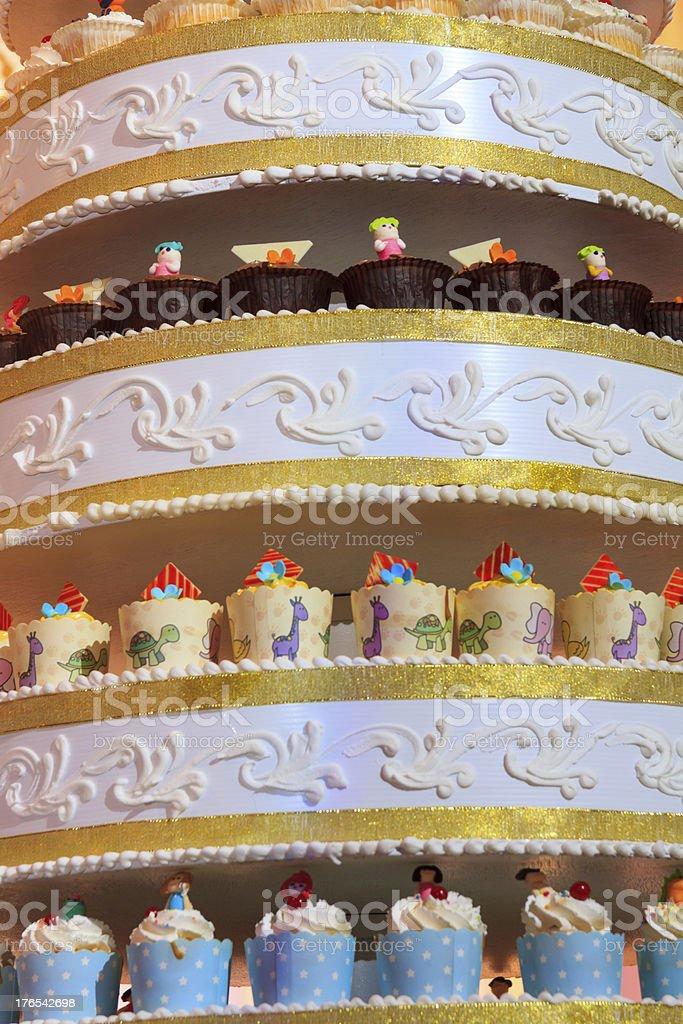 Close Up Wedding Cake royalty-free stock photo