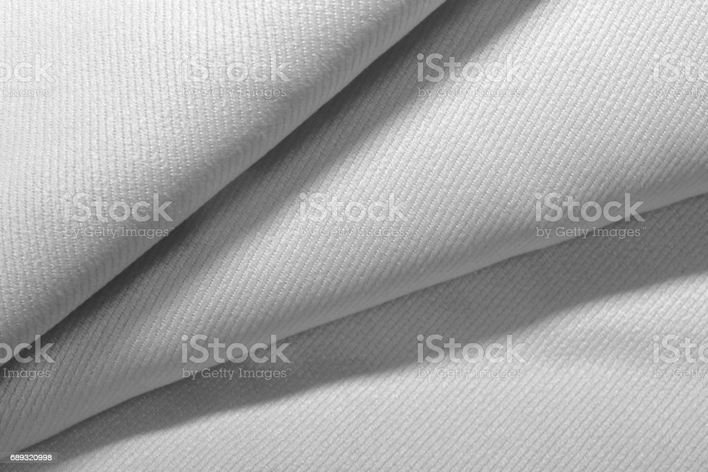 Close up white fabric texture stock photo
