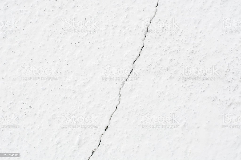 Close up white wall crack texture background stock photo