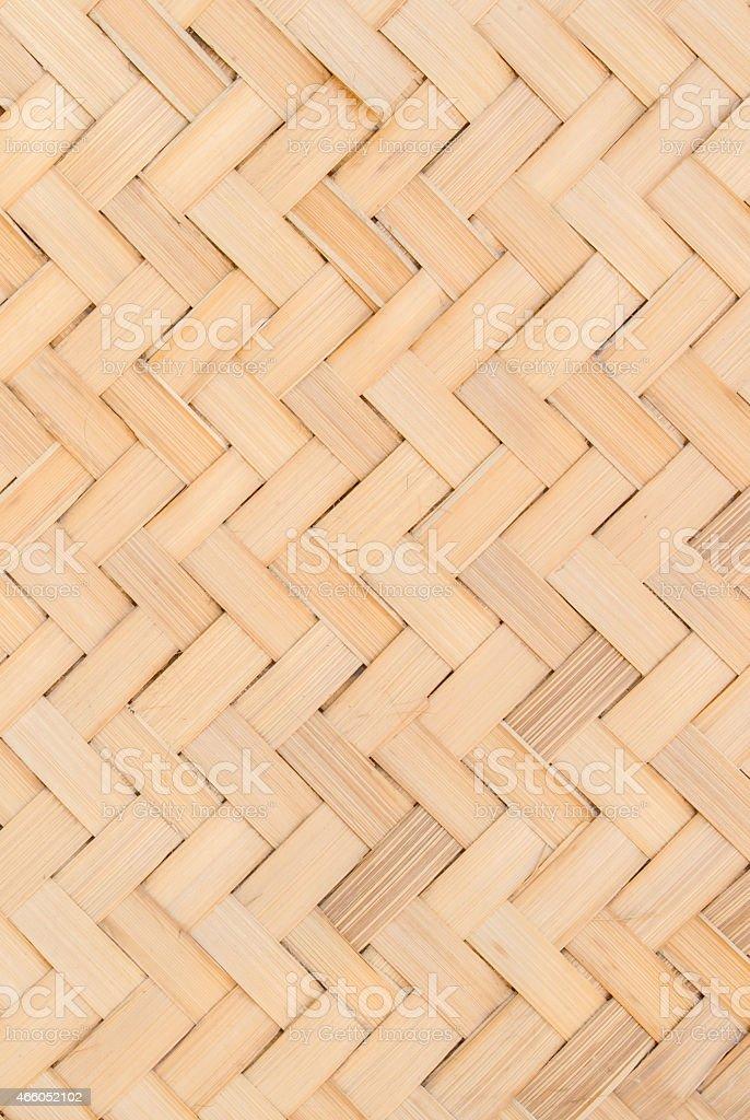 close up woven bamboo pattern stock photo