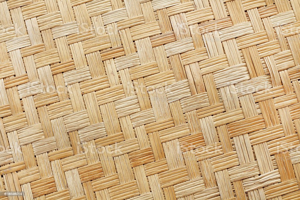 close up woven bamboo pattern stock photo