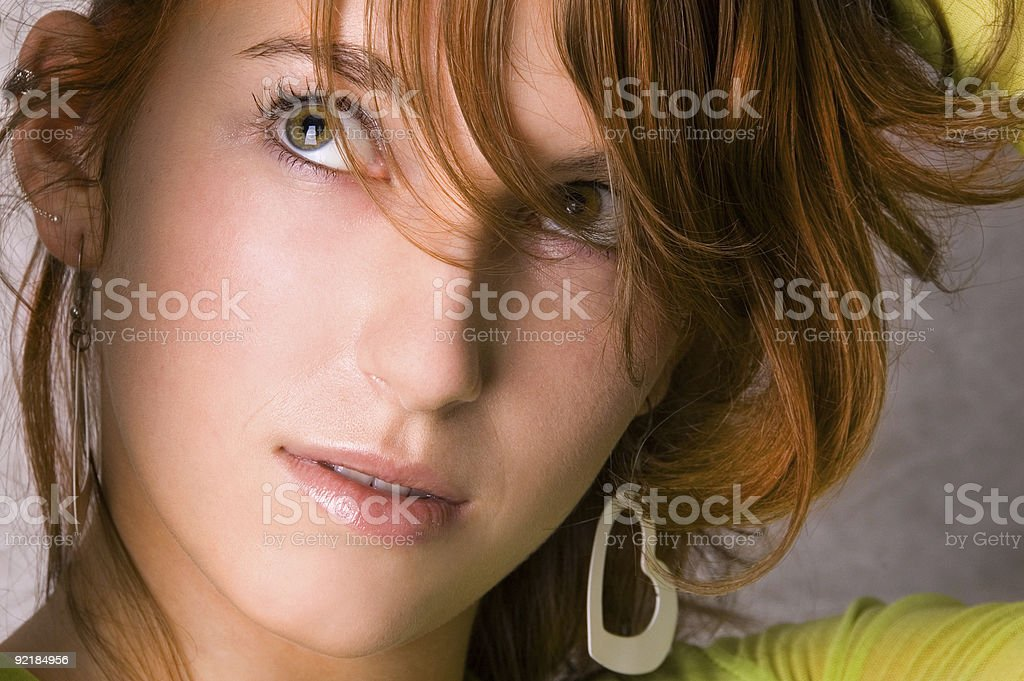 Close up Young Woman Portrait royalty-free stock photo