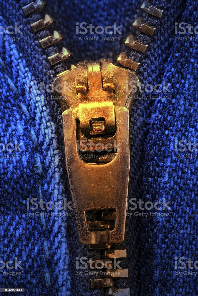 close up zipper 2 royalty-free stock photo