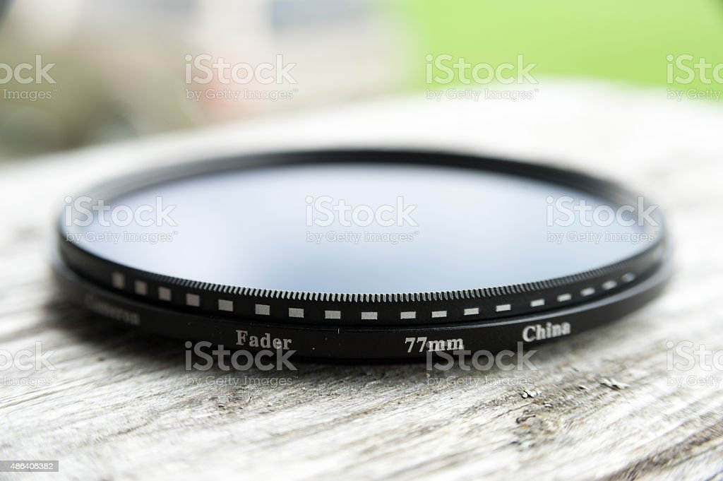 close view of a fader lens stock photo
