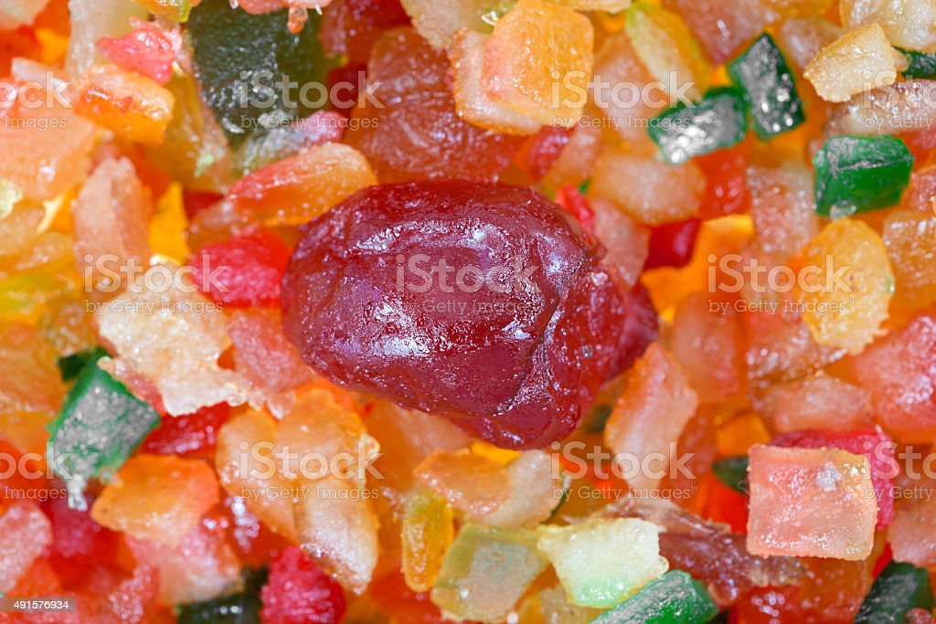 Close view of fruit and peel mix stock photo