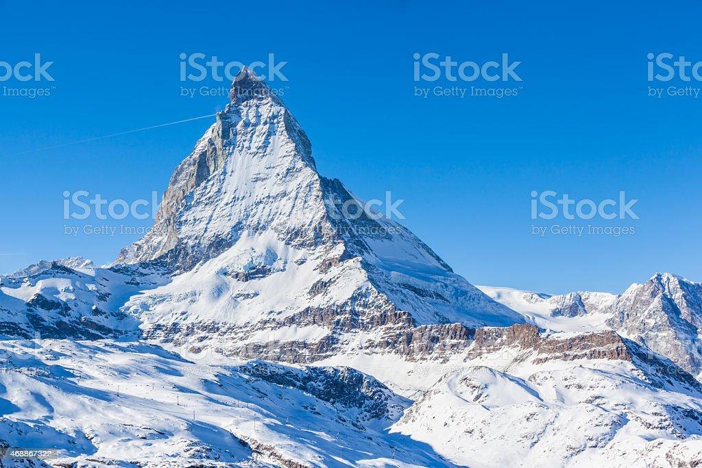 Close view of Matterhorn stock photo