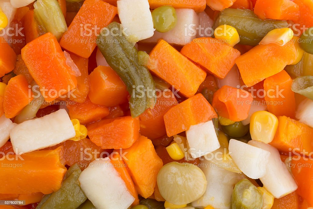 Close view of mixed vegetables stock photo