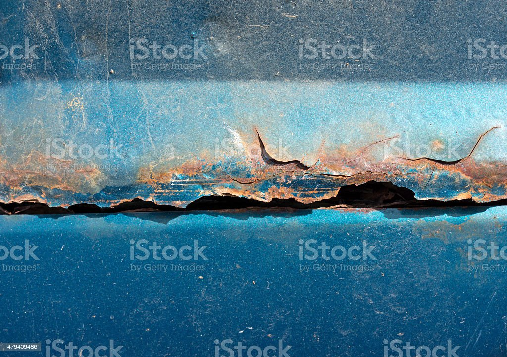 Close view of rusting car stock photo