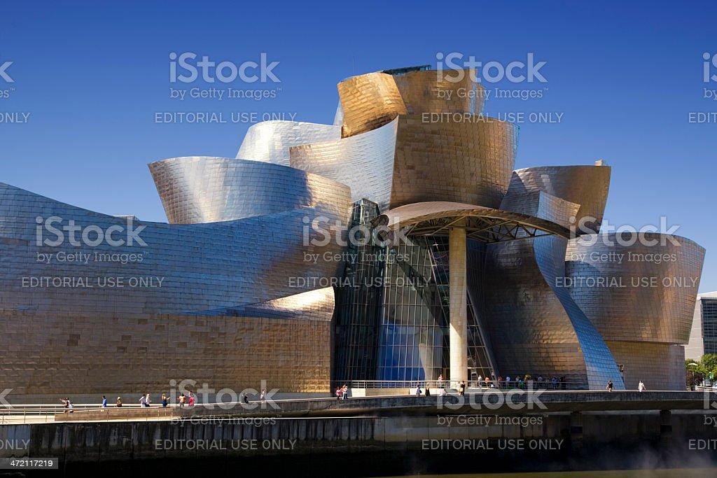 Close view of the Guggenheim Bilbao museum stock photo