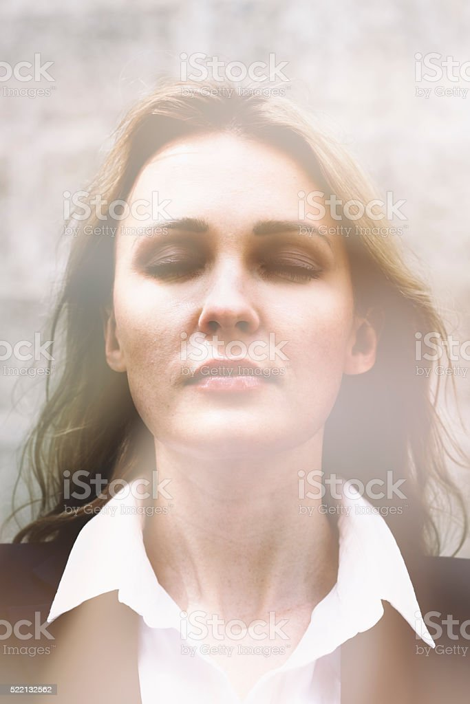 Close Your Eyes stock photo