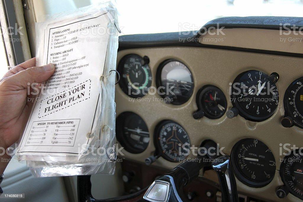 Close Your Flight Plan royalty-free stock photo