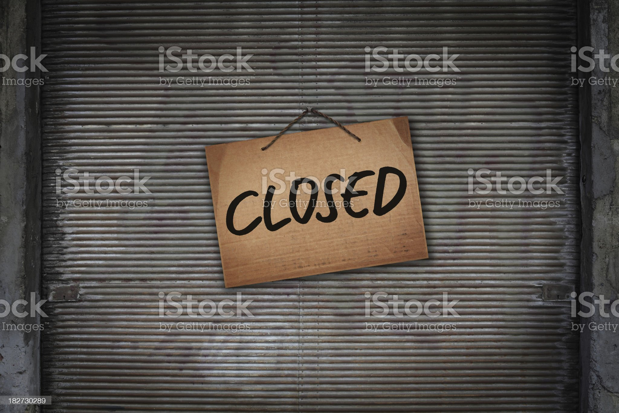 Closed Abandoned Shop royalty-free stock photo
