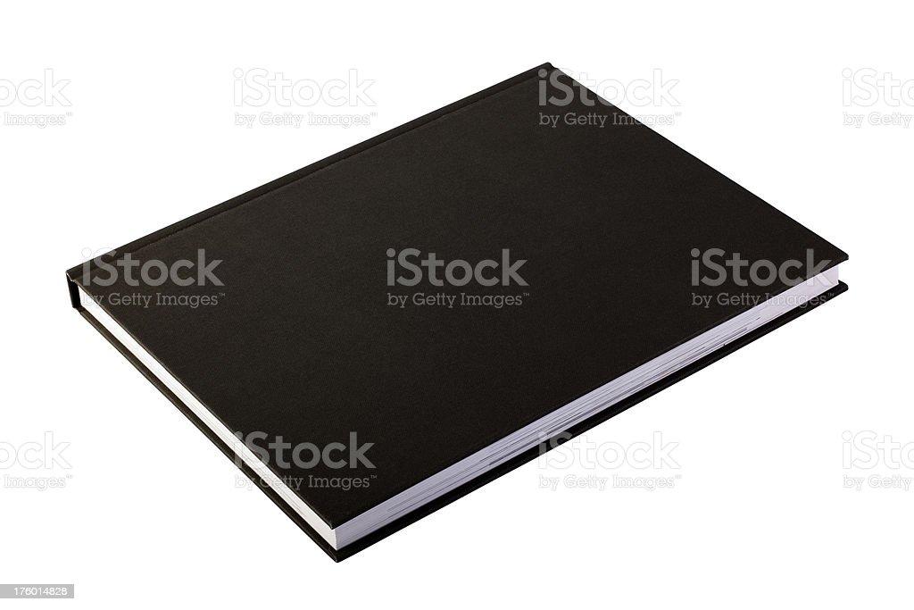 Closed Black Book royalty-free stock photo