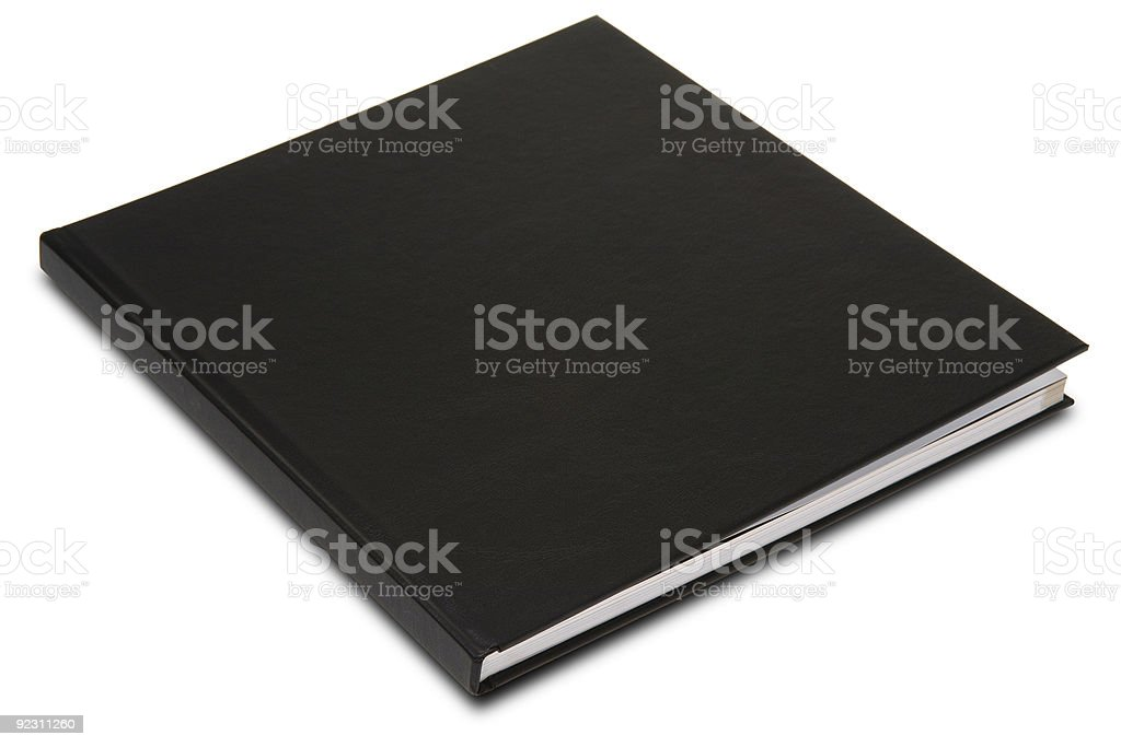 Closed black book set on white background royalty-free stock photo