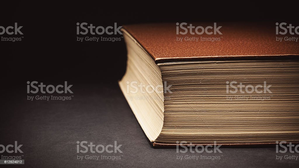Closed Book Details stock photo