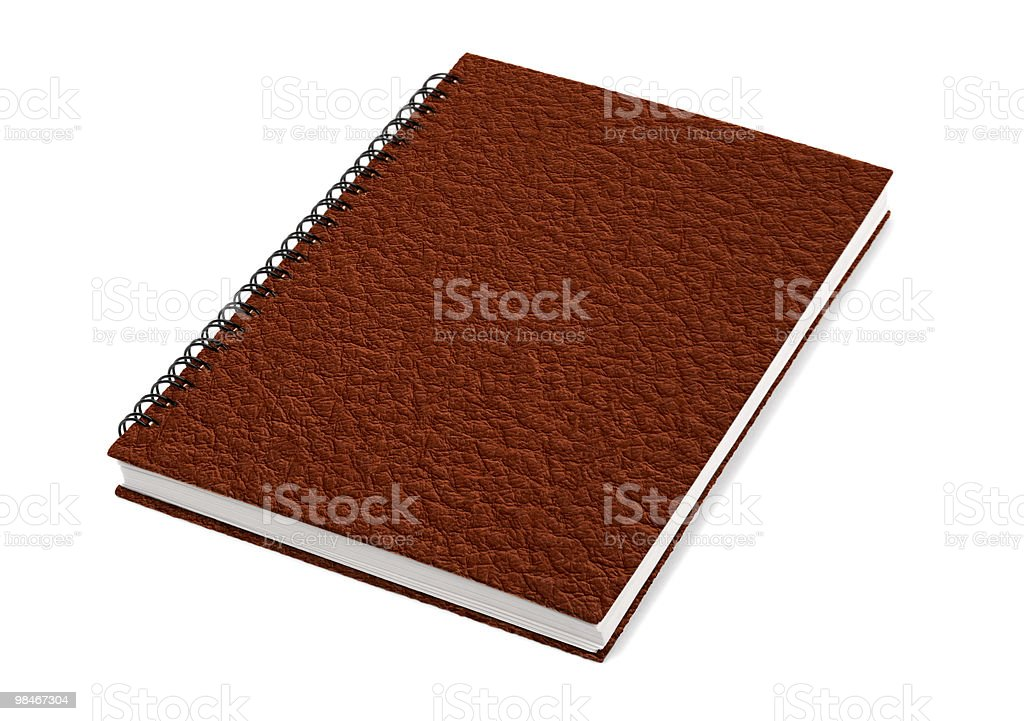 Closed Book With Leather Cover stock photo