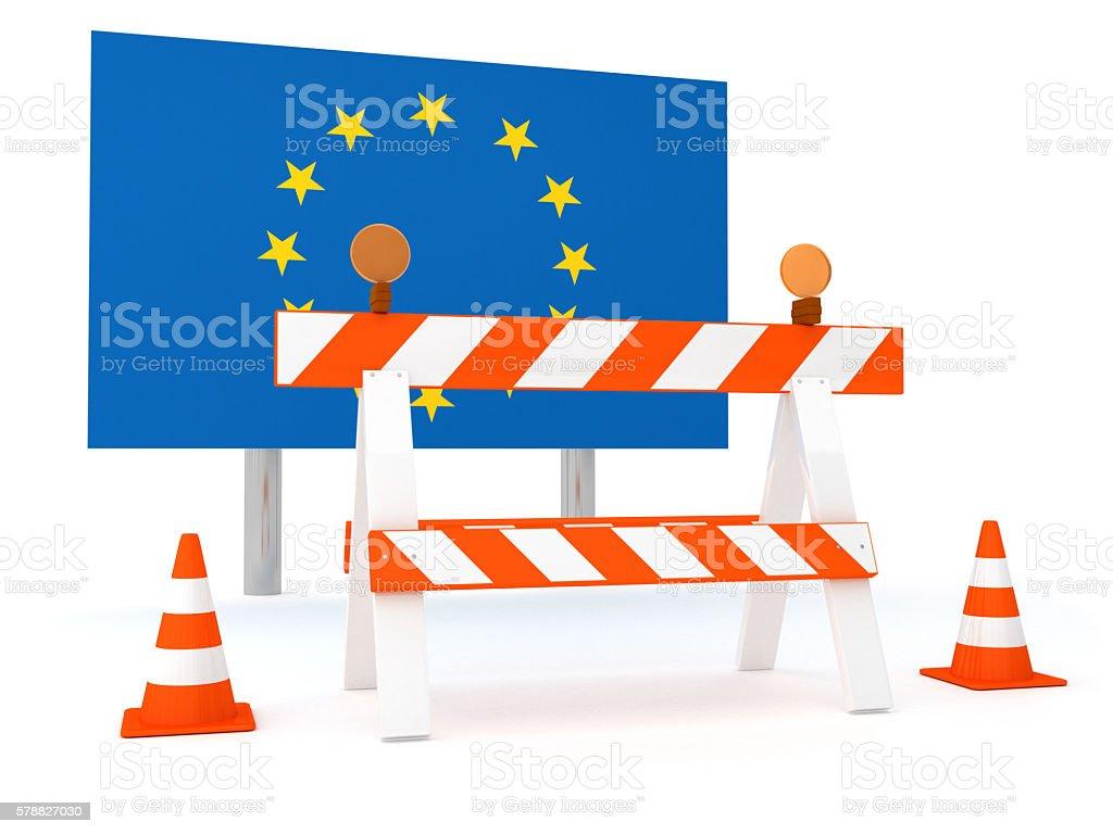Closed Border of EU stock photo