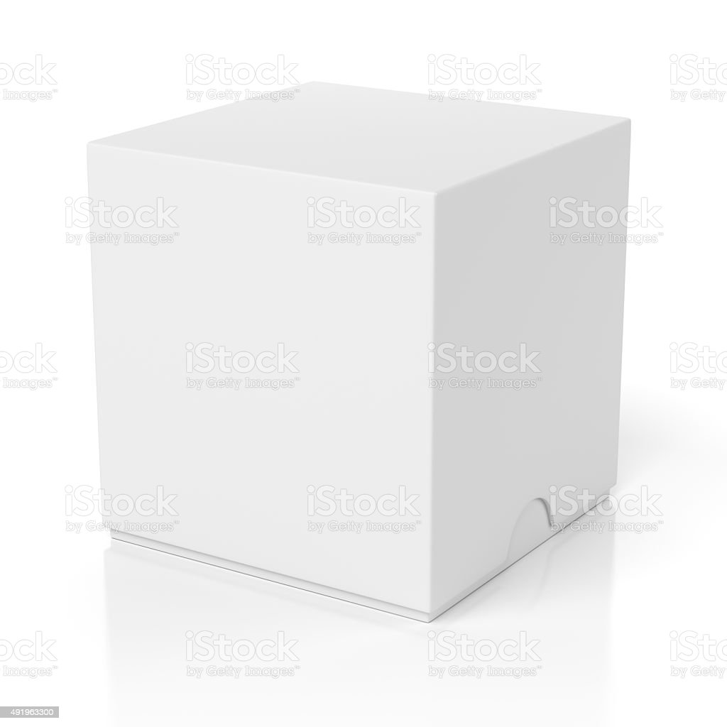 Closed box with slide cover isolated on white stock photo
