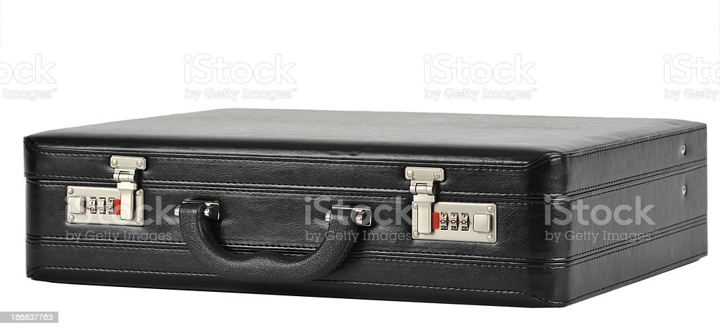 Closed business briefcase royalty-free stock photo