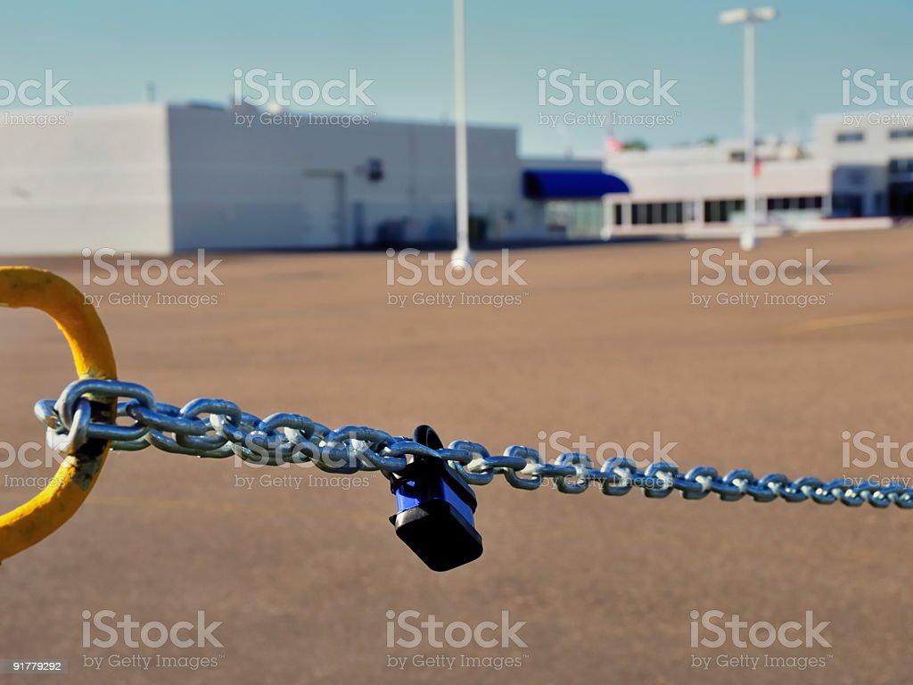 Closed Business - Car Dealership stock photo