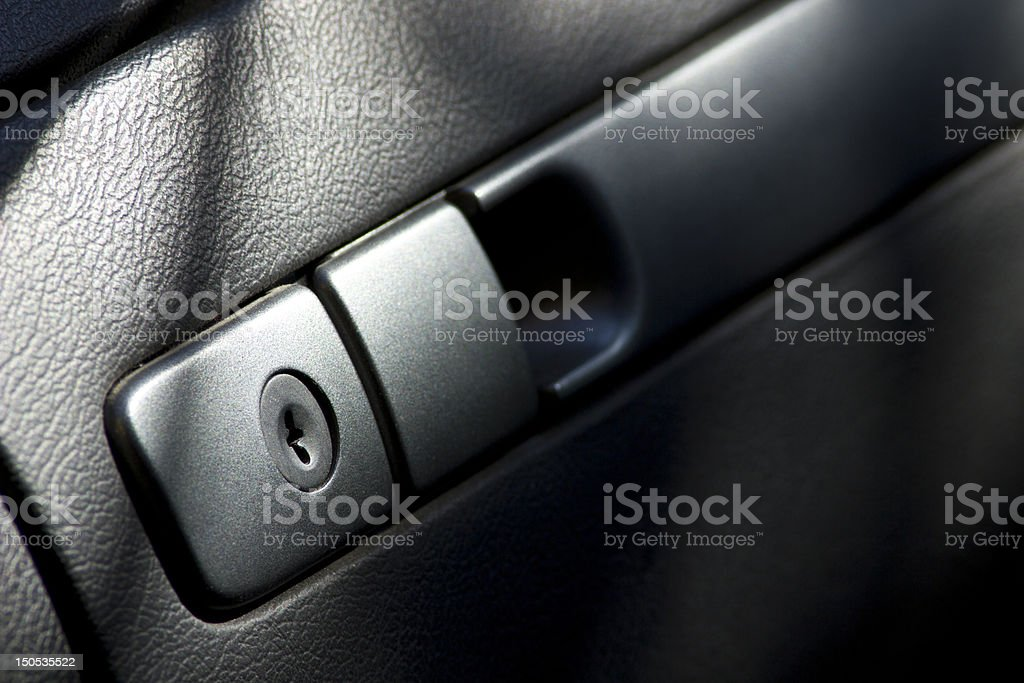 Closed Car Glove box stock photo