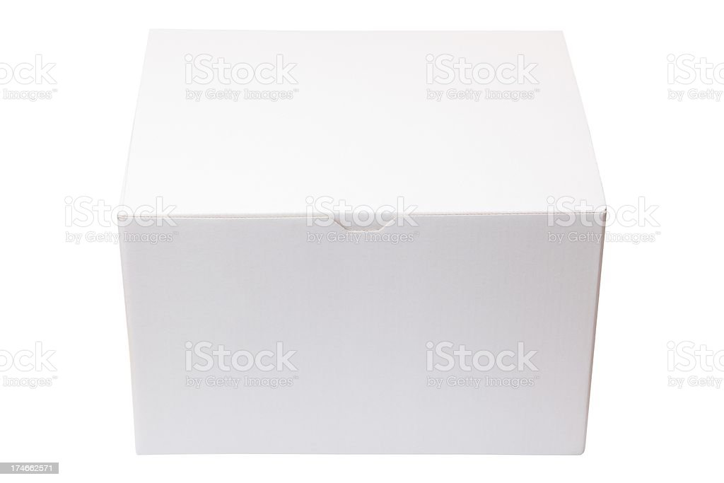 Closed Cardboard Box  Isolated On White XXXL royalty-free stock photo