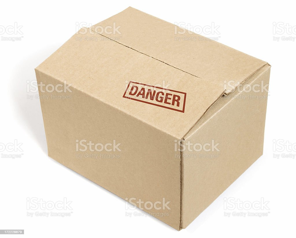 Closed Cardboard Box royalty-free stock photo