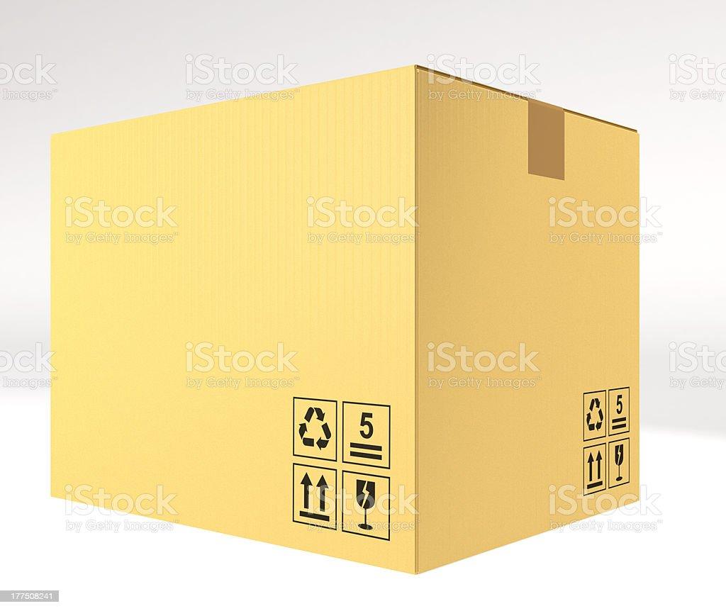 closed cardboard box royalty-free stock photo