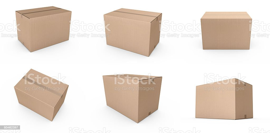 Closed cardboard boxes stock photo