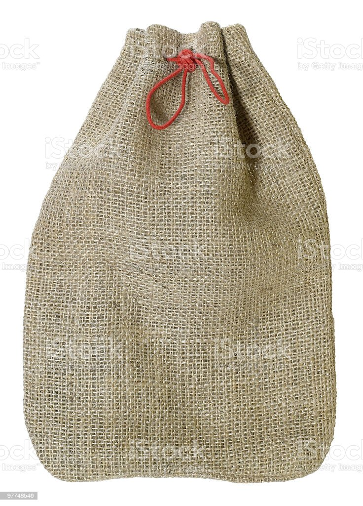 closed christmas bag royalty-free stock photo