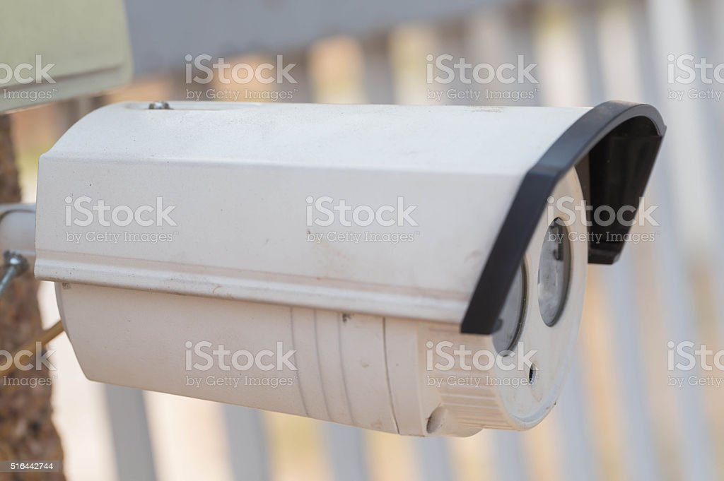 closed circuit camera stock photo