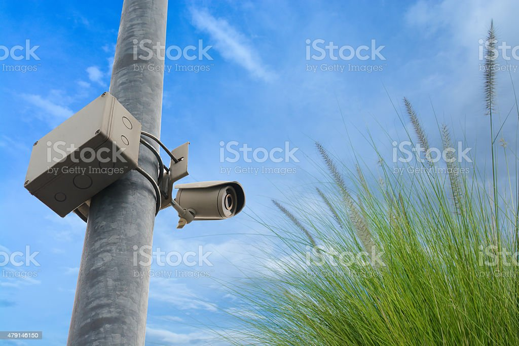 Closed circuit television (CCTV) equipment for protect thief stock photo