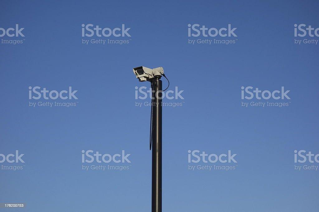 closed circuit television surveillance camera royalty-free stock photo