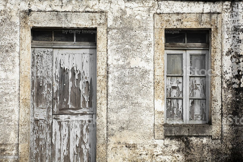 Closed door and window. royalty-free stock photo