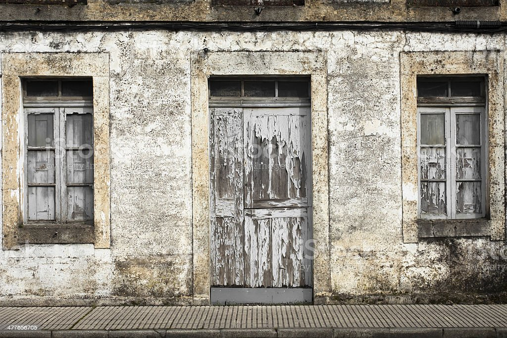 Closed door and windows. royalty-free stock photo