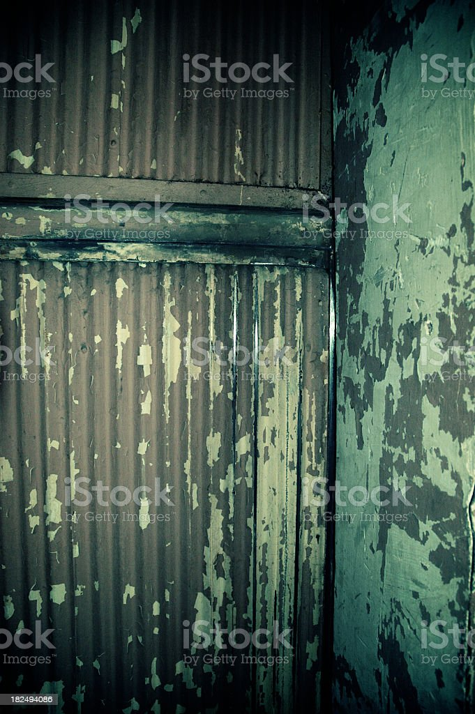 Closed Doors of a Freight Elevator royalty-free stock photo