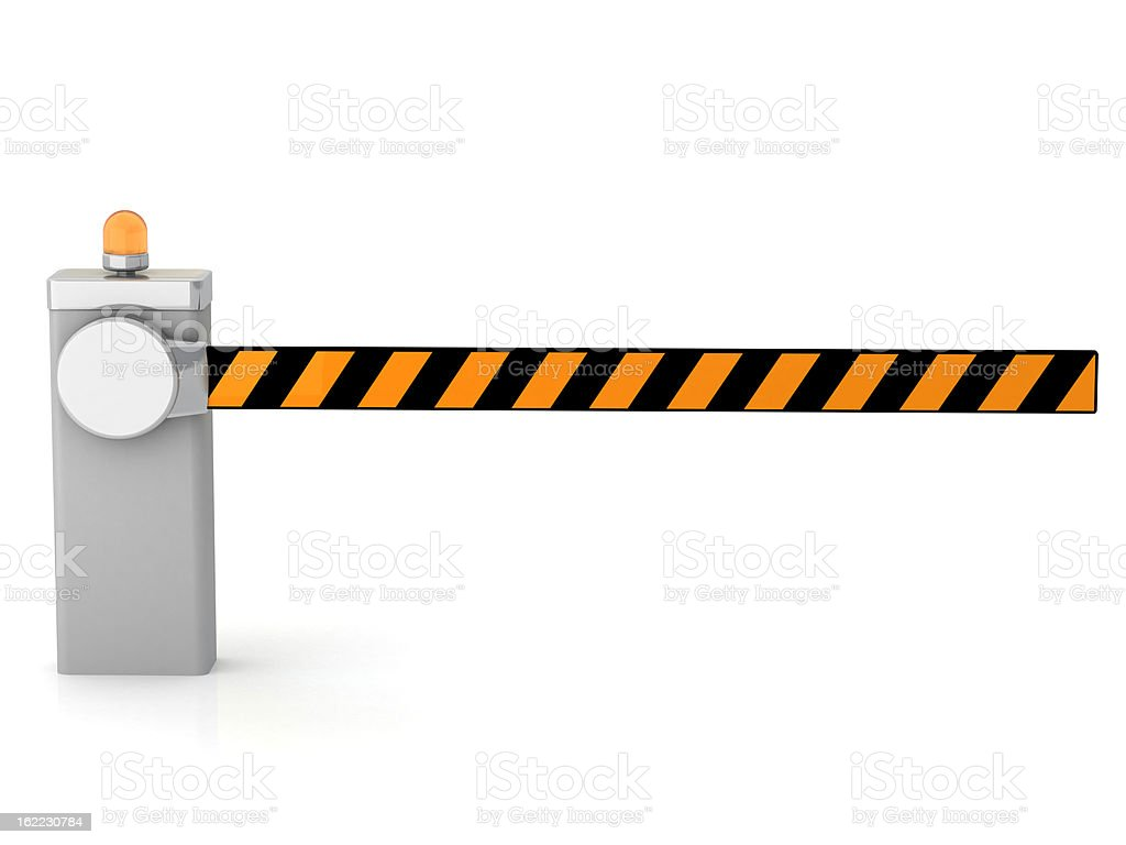 Closed entrance barrier stock photo