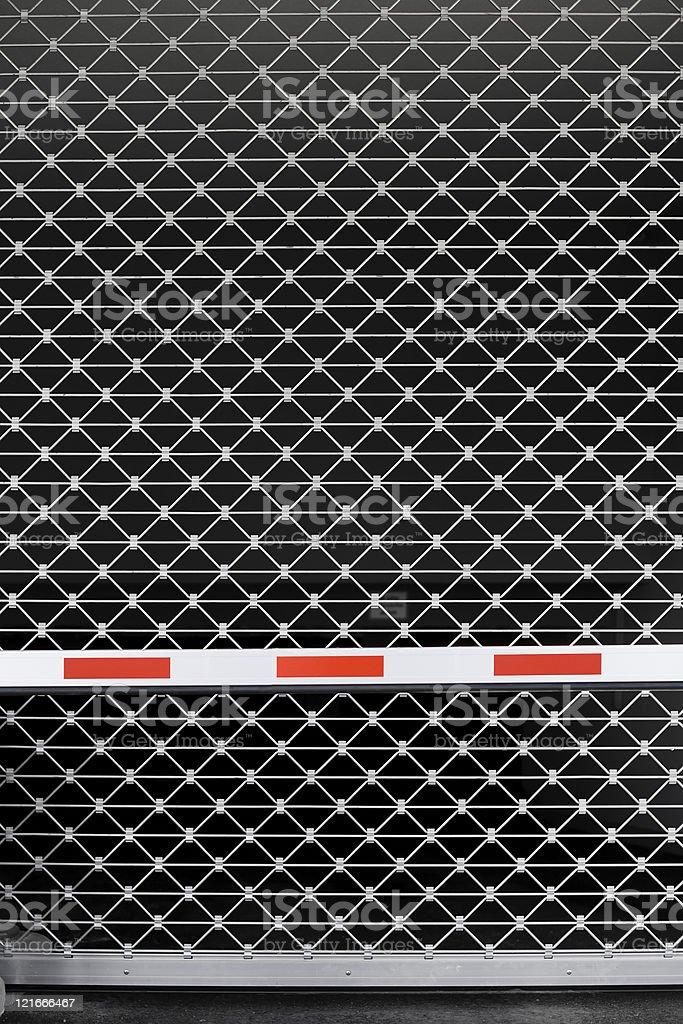 Closed entrance parking garage royalty-free stock photo