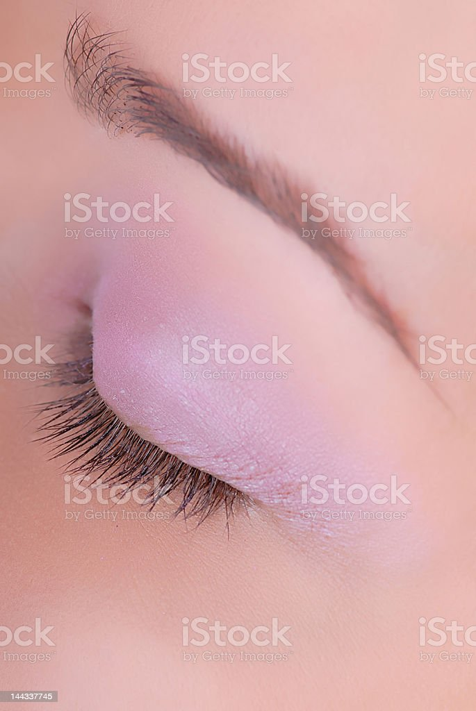 closed eye royalty-free stock photo