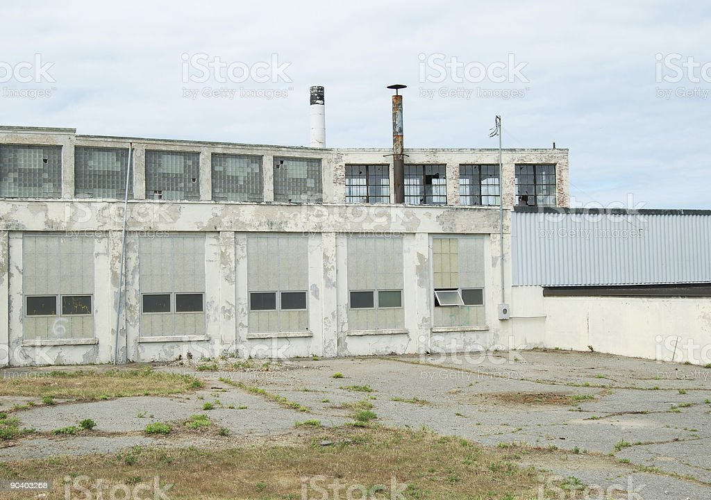 Closed factory royalty-free stock photo