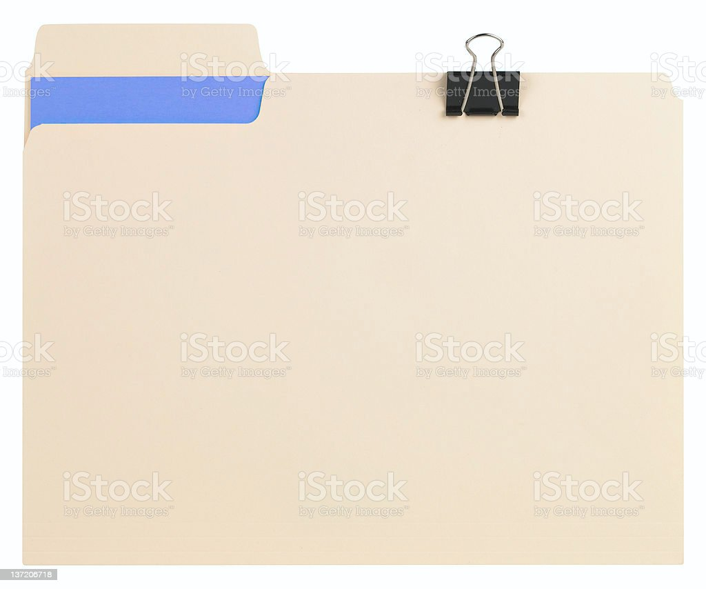 Closed File Folder royalty-free stock photo
