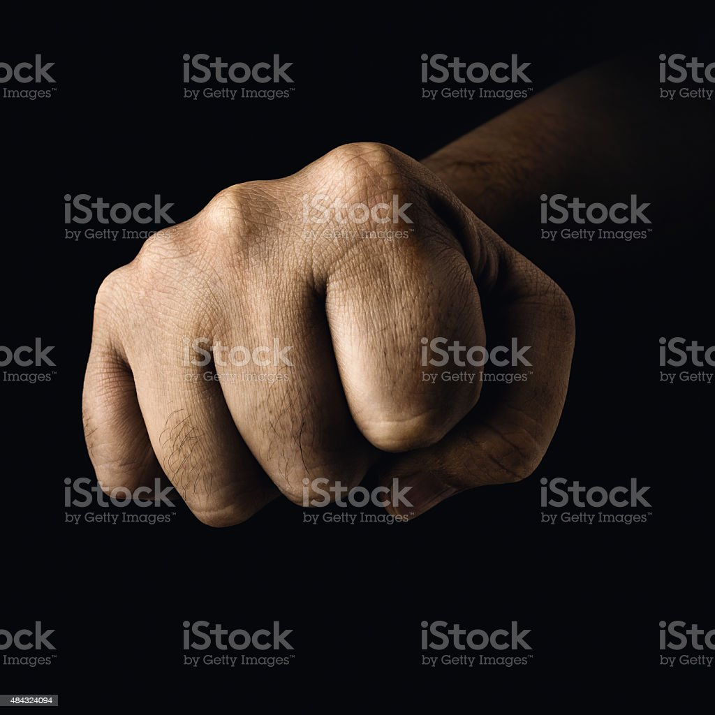 Closed Fist stock photo